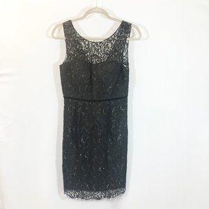 BHLDN Jenny Yoo Black Lace Overlay Dress
